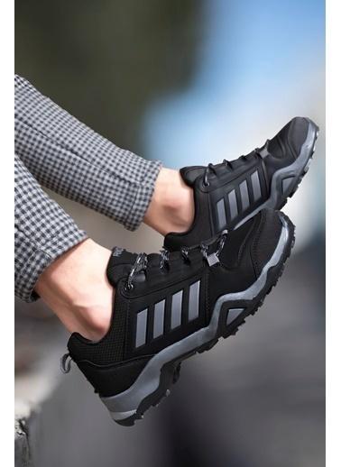 Riccon Siyah Füme Erkek Trekking Ayakkabı 0012189 Siyah